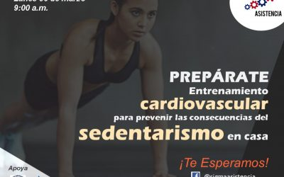 Entrenamiento cardiovascular para prevenir el sedentarismo en casa