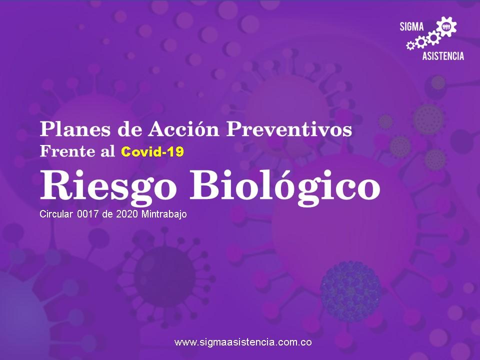 Planes de acción preventivos  frente al Covid 19 – Riesgo biológico