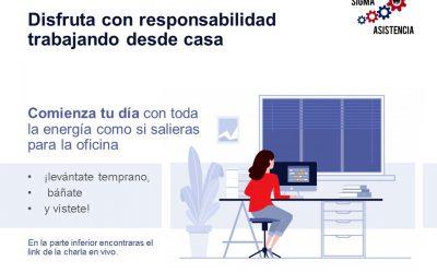 Disfruta con responsabilidad trabajando desde casa