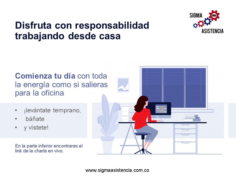 Disfruta con responsabilidad trabajando desde casa – Teletrabajo o Trabajo en casa
