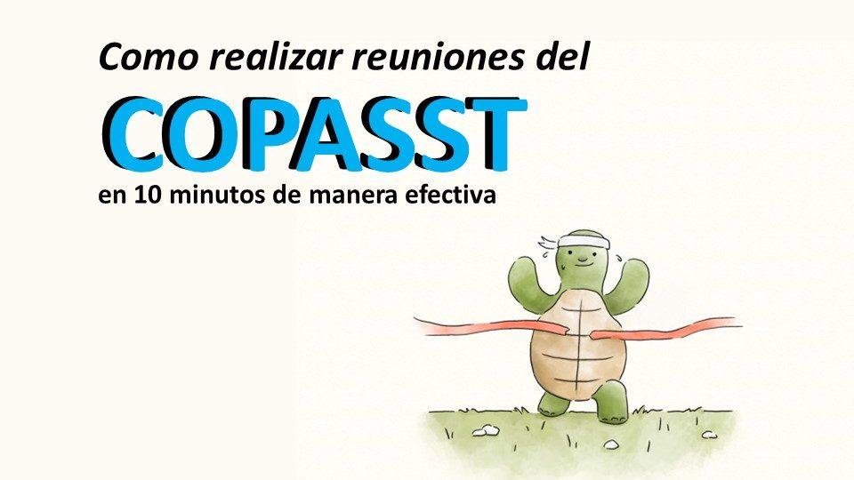 Como realizar reuniones del COPASST en 10 minutos de manera efectiva