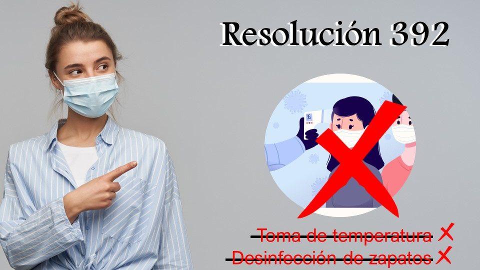 Toma de temperatura y desinfección de calzado serán retiradas de los protocolos de bioseguridad
