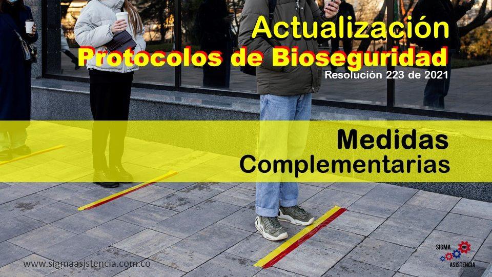 Actualización protocolos de bioseguridad – Resolución 223