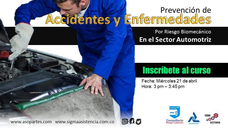 Prevención de accidentes y enfermedades por riesgo biomecánico en el Sector Automotriz